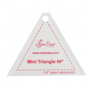 "Sew Easy Mini Triangle 60 Degree Ruler 5.25"" x 2.5"""